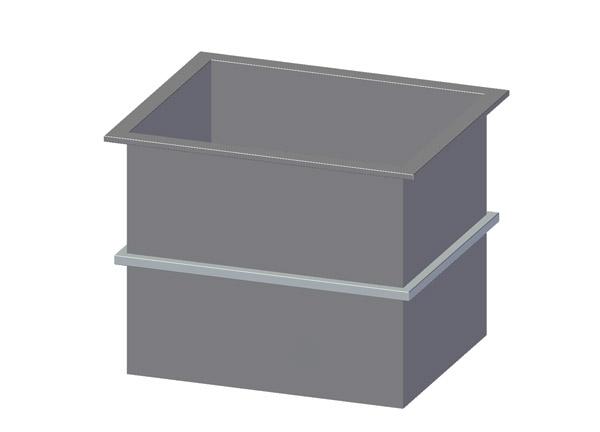 rechteckbeh lter 500 liter fassungsverm gen rauch ohg galvanotechnik shop. Black Bedroom Furniture Sets. Home Design Ideas